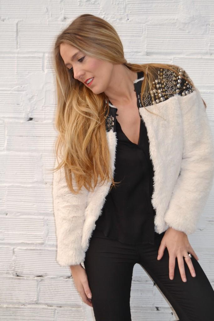 abrigo de pelo guapa tendencia