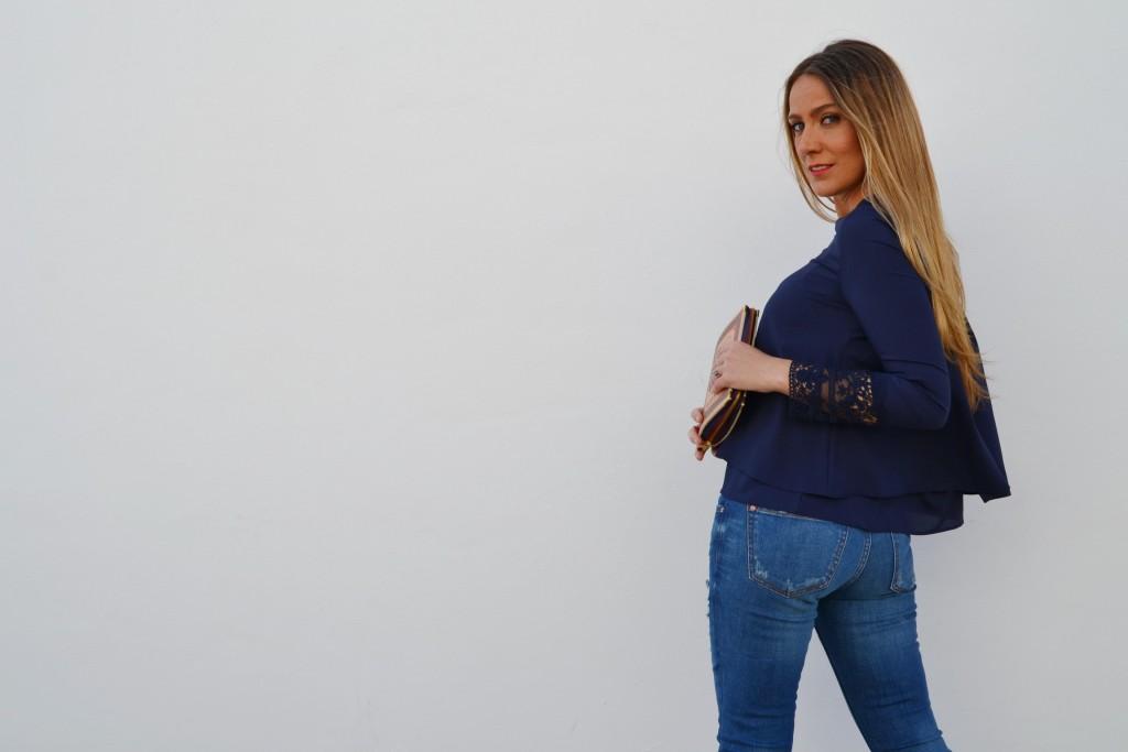 blusa con acabado especial