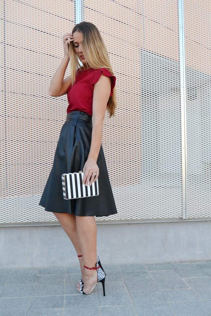 Falda midi cuero 8