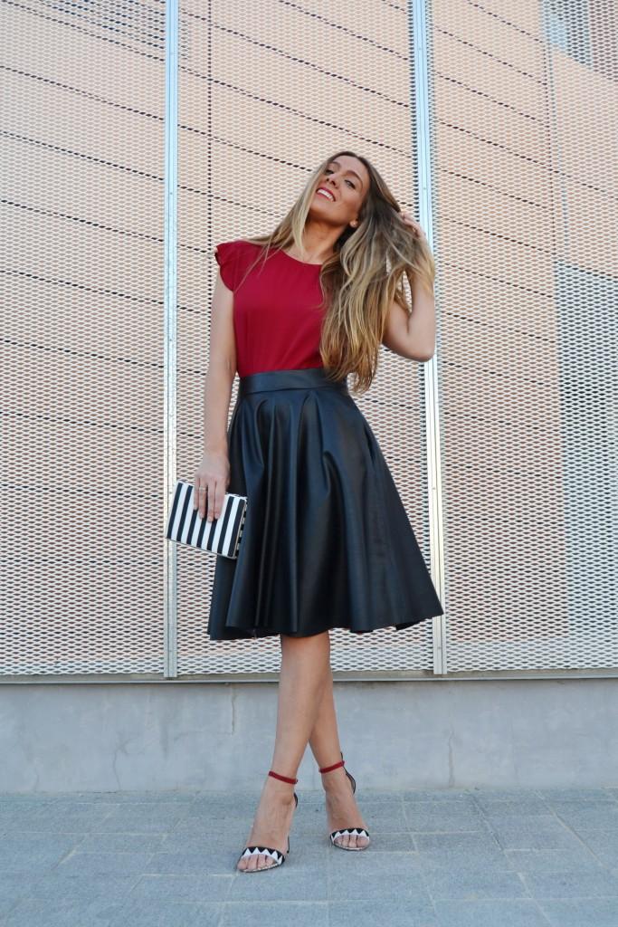 falda midi cuero 10