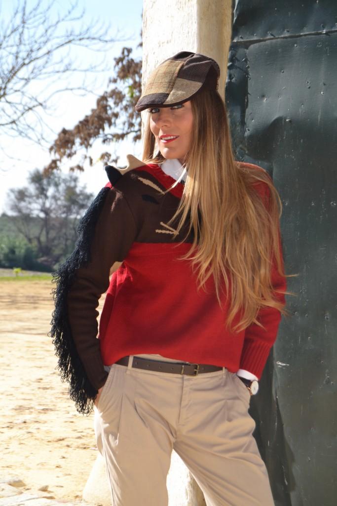 El protagonista de mi look de hoy mi jersey del caballo