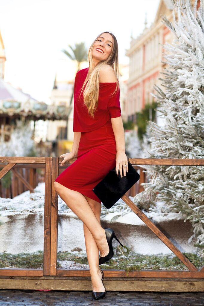 Vestido Asimétrico corto en rojo