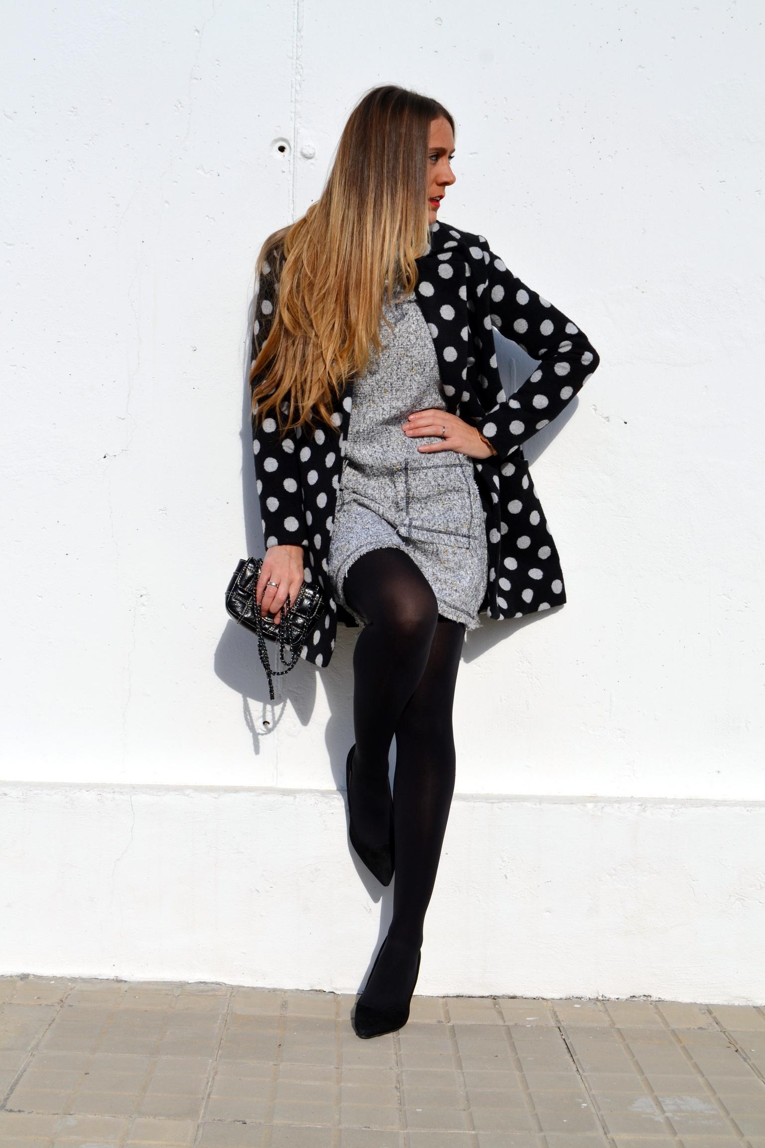 vestido tweed de Bella Spinella