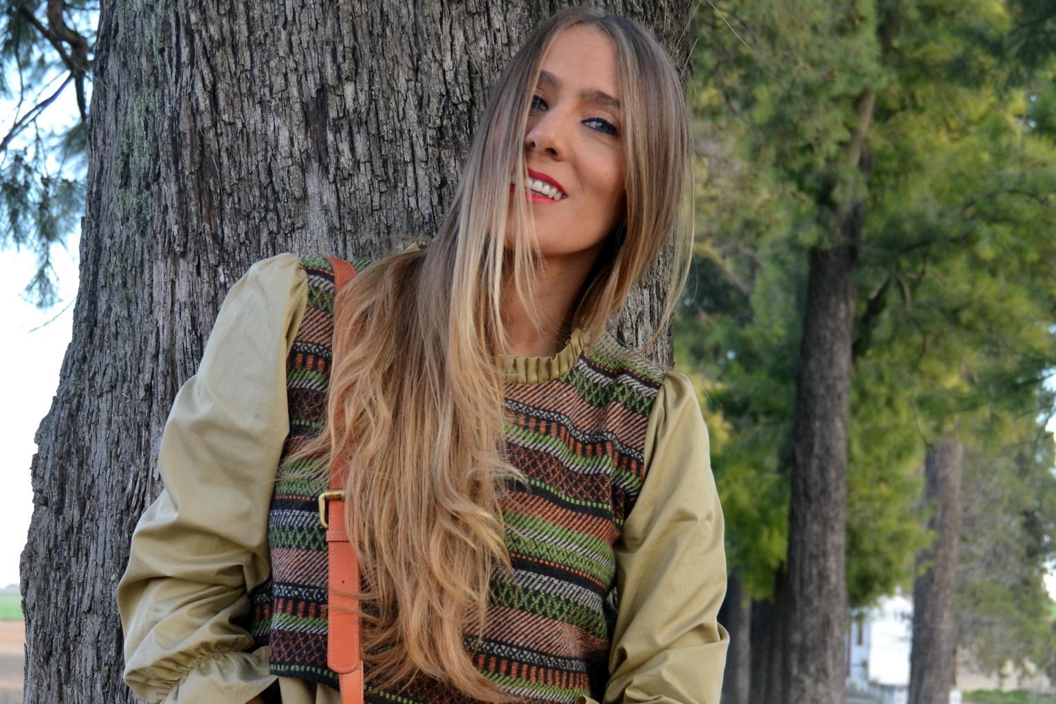 Blusa original en tonos otoñales