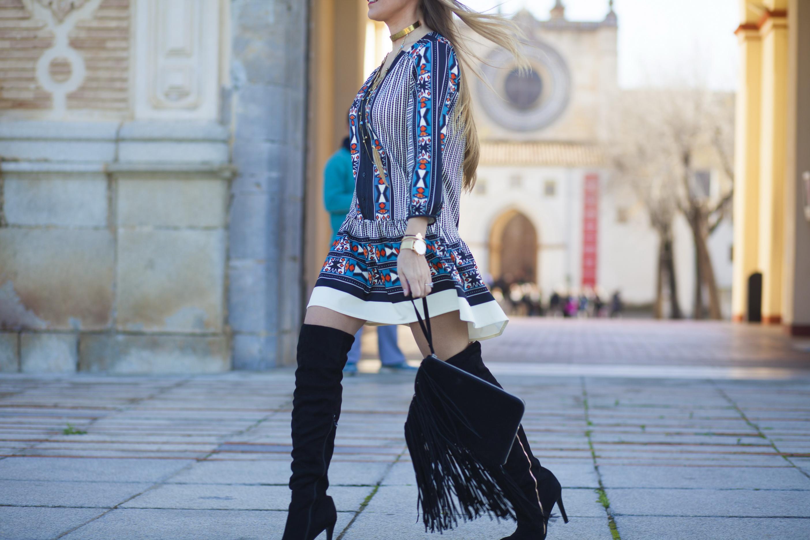 vestido estampado de colores 10