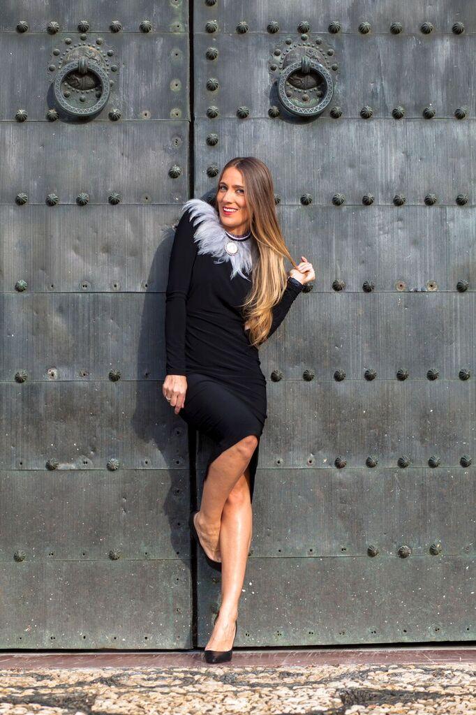 vestido clásico negro by araceli vera y la Paca costura
