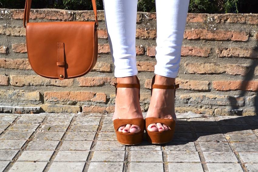 bolso y zapatos camel la redoute