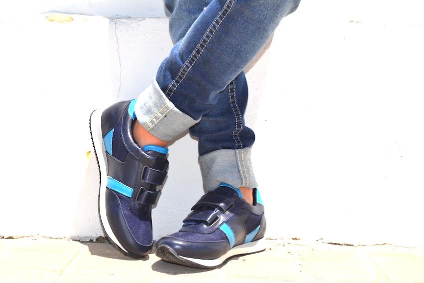 Zapatillas en azul Hugo Boss