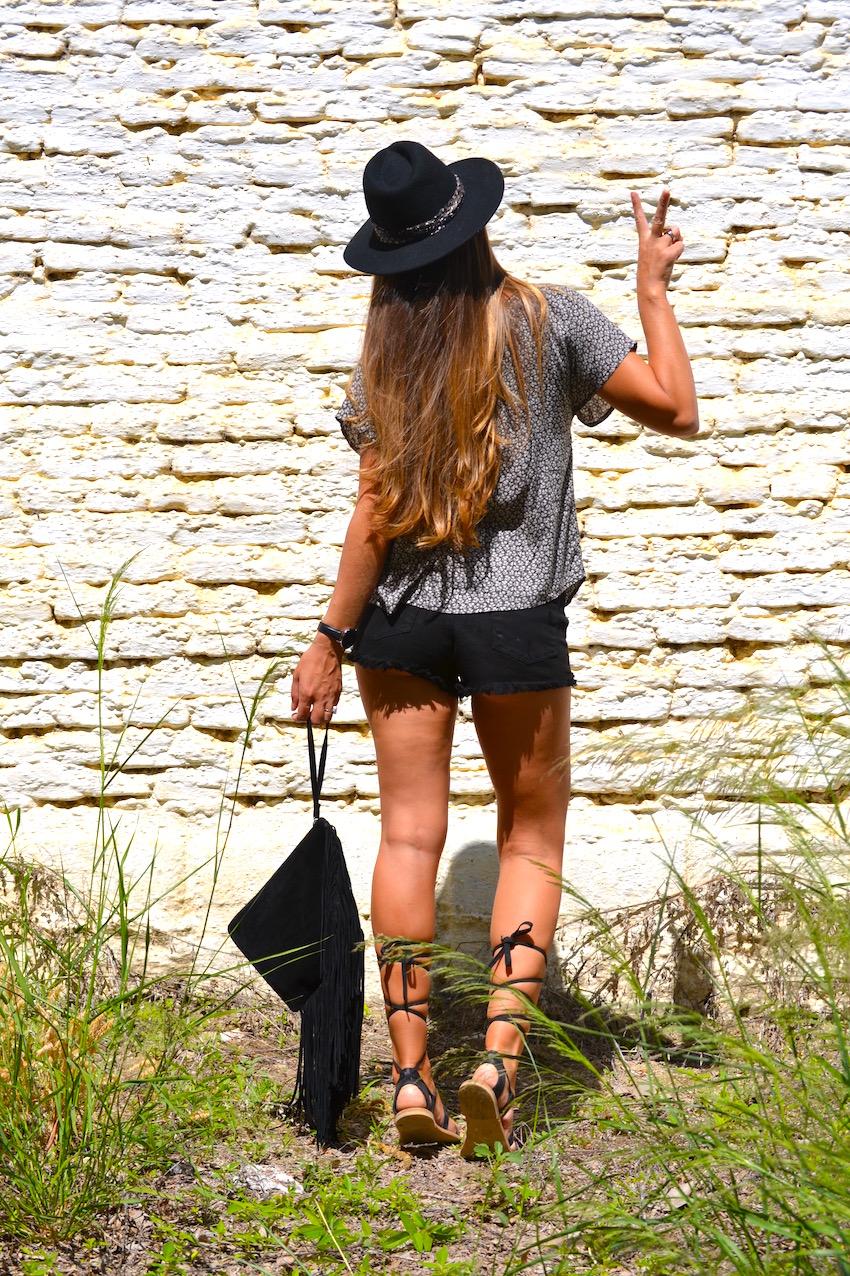 Sombrero negro de Zara