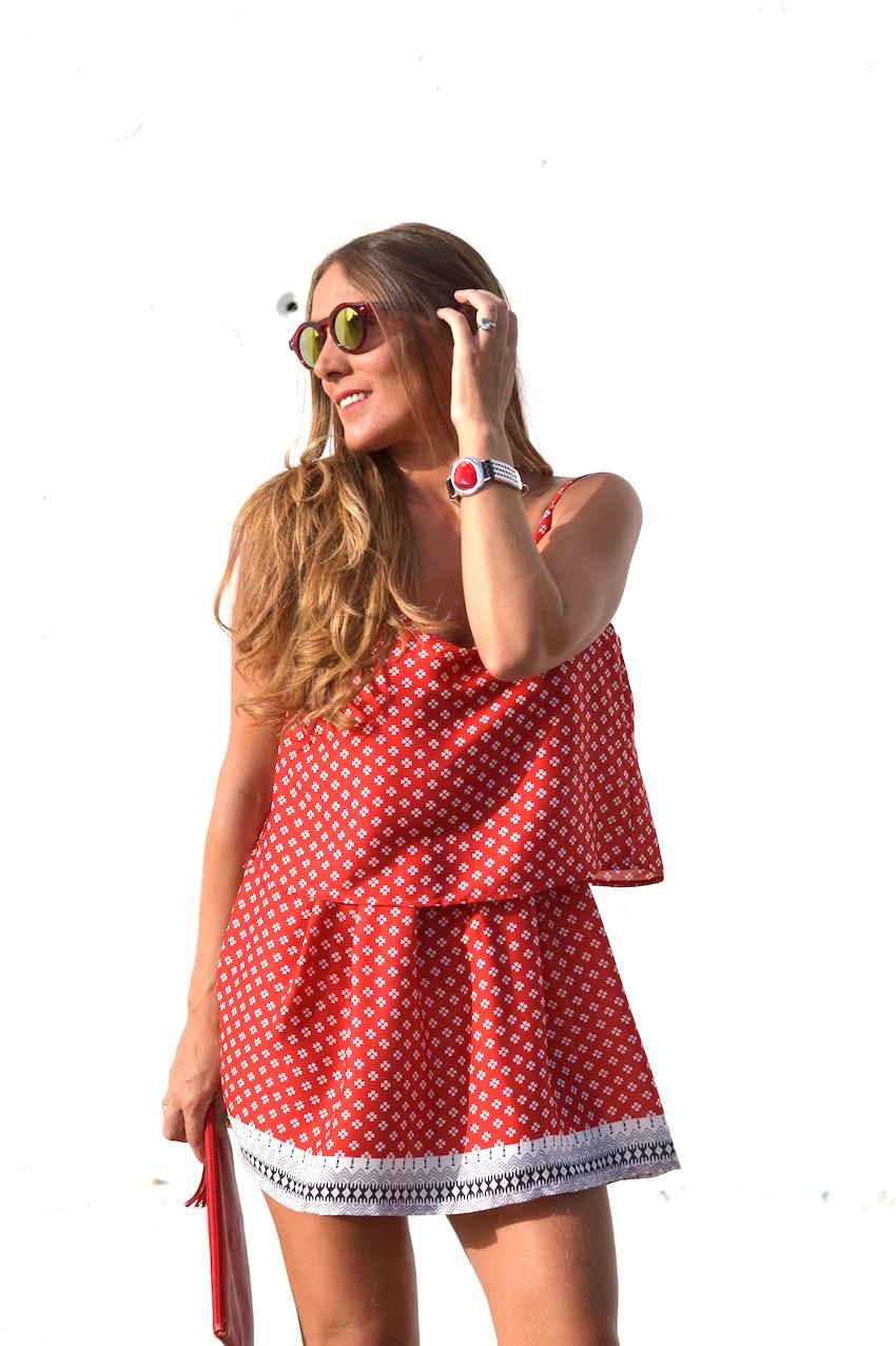 Vestido rojo de Romwe