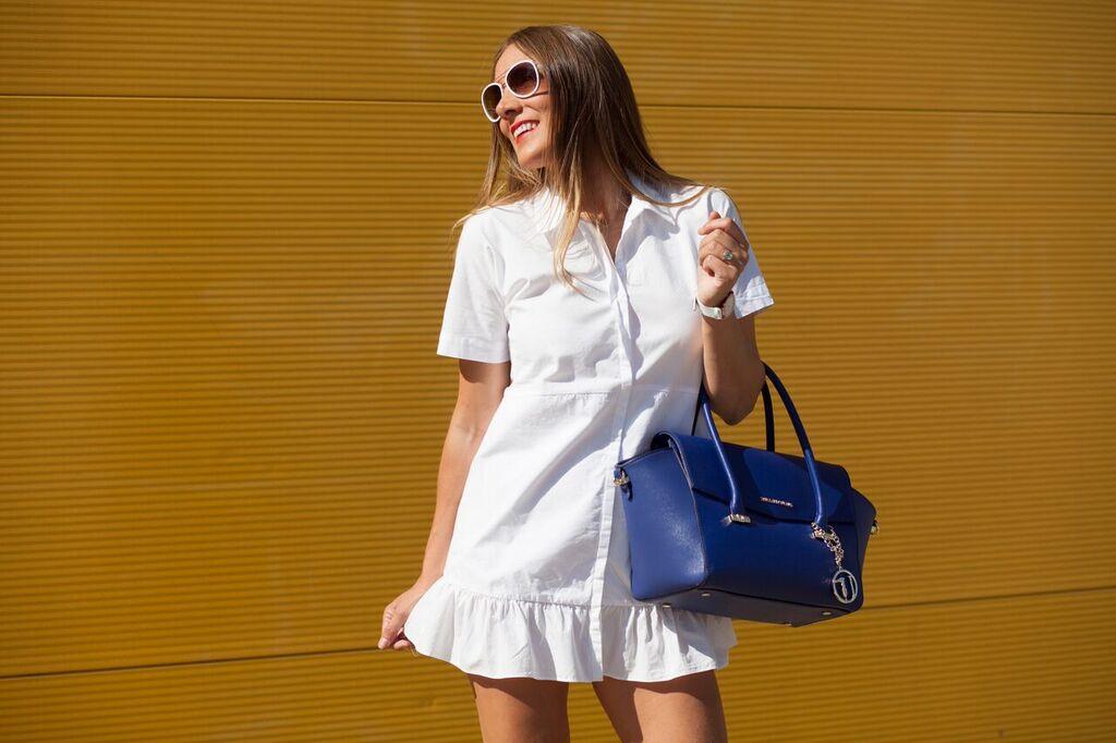 bolso azul klein
