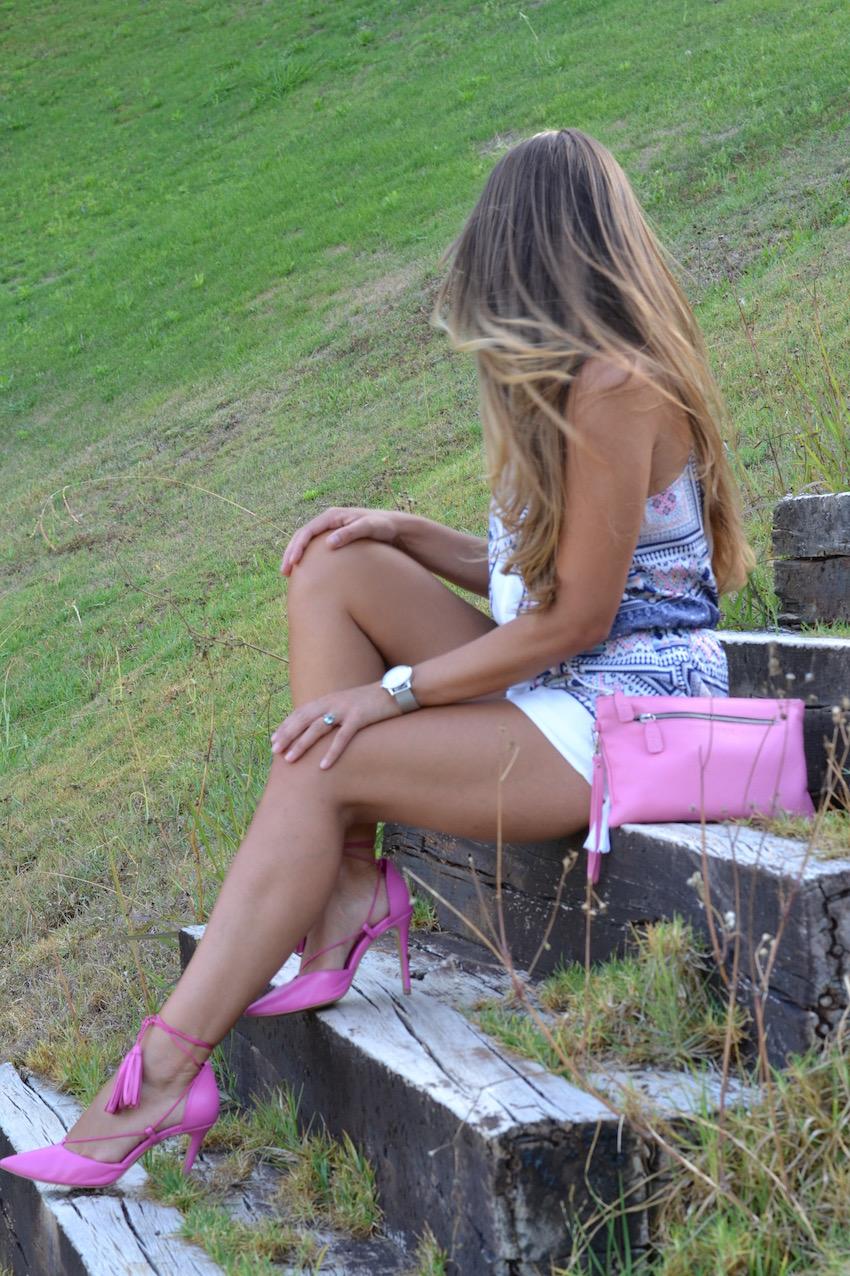 Bolso rosa de Pielfort