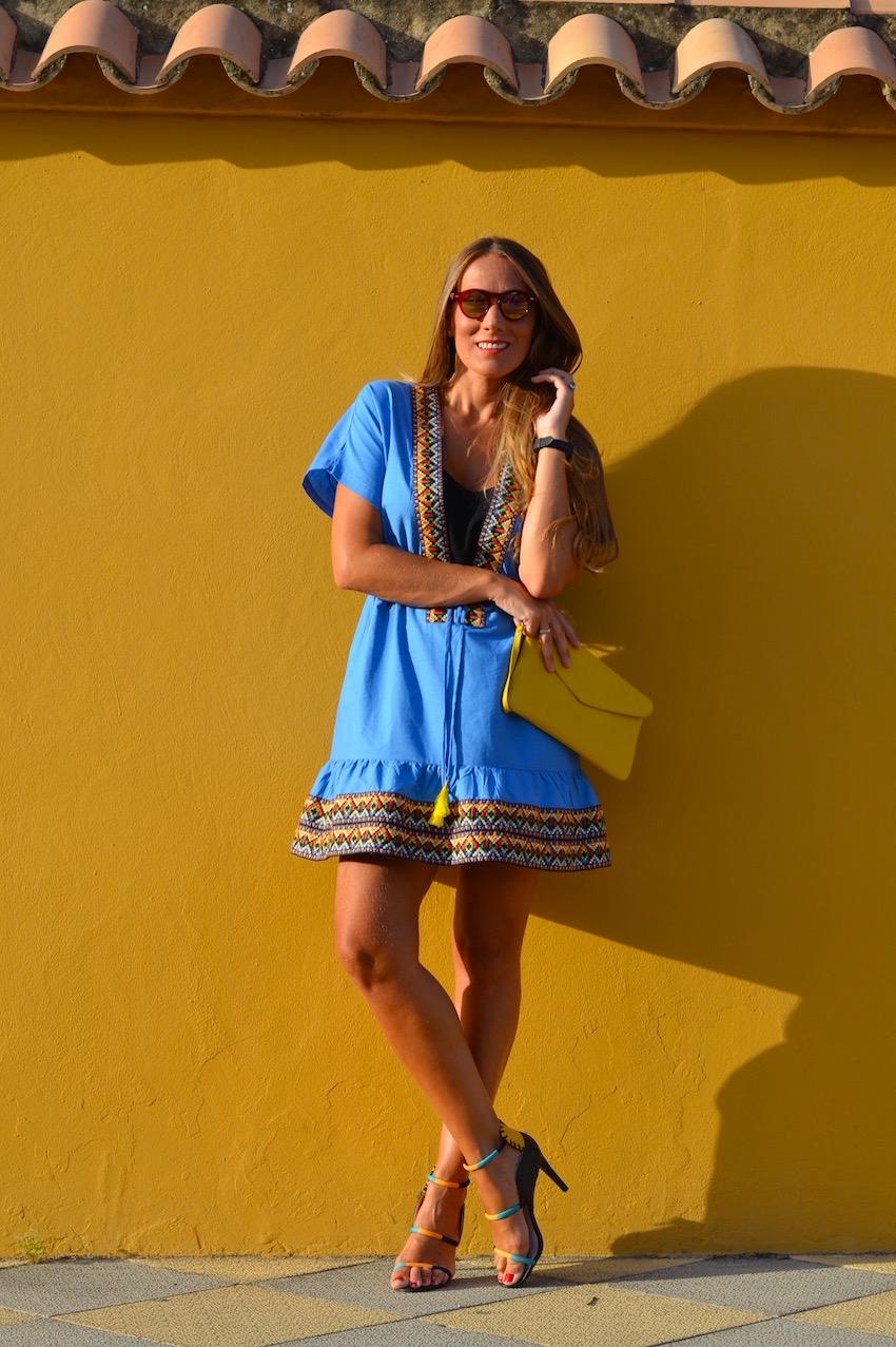vestido sheinside azul cielo