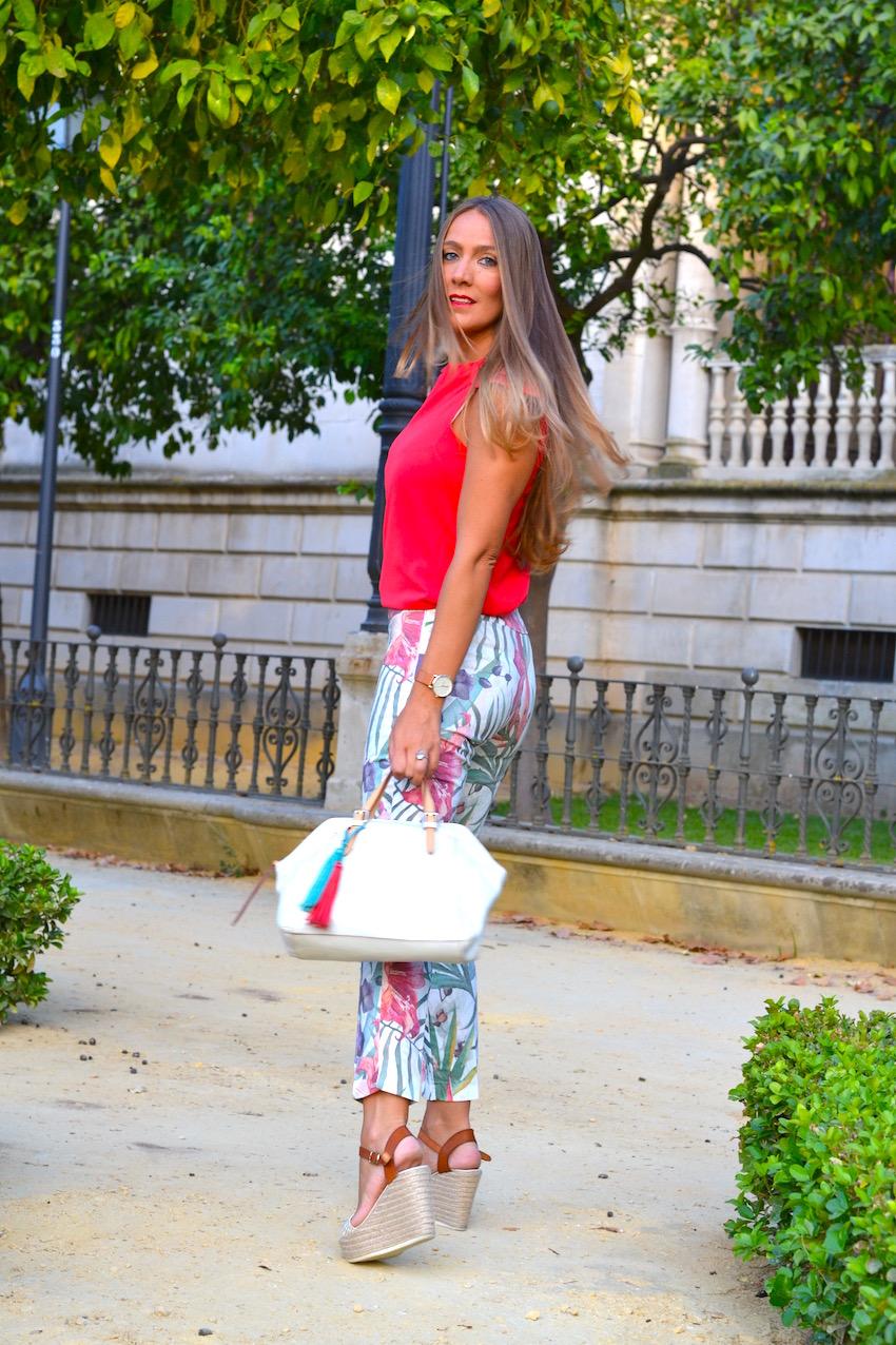 Pantalón Estampado floral Cayro Woman