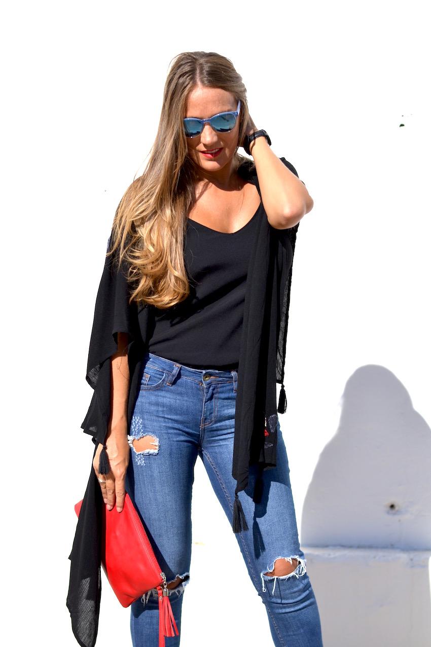 Jeans de Zara corte capri