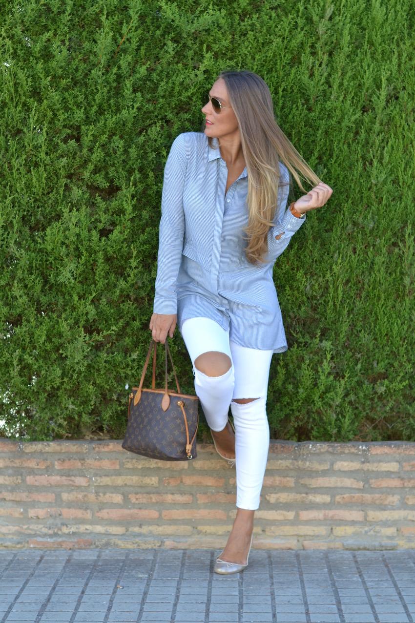 jeans blanco de zara