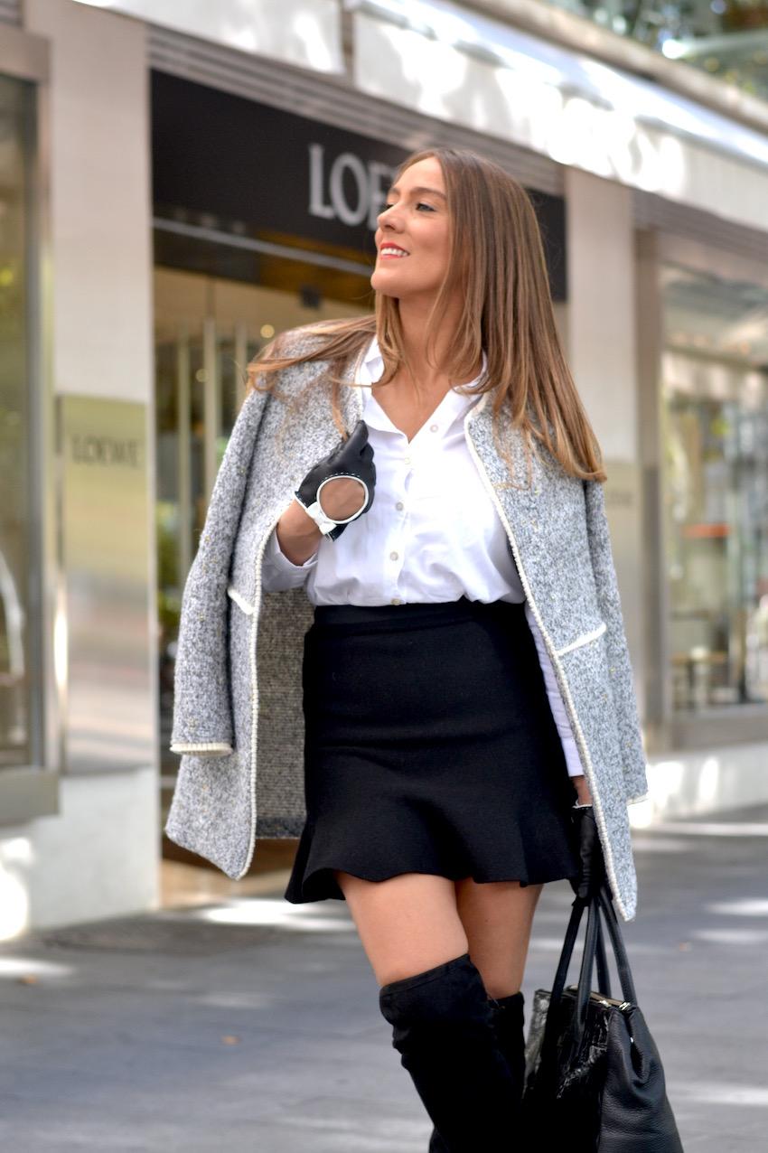Falda negra de Zara
